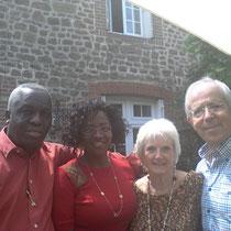 Rencontre entre HSF, CAPE et TRAIT-d'UNION avec la conseillère Ramatoulaye, à Charchigne en France