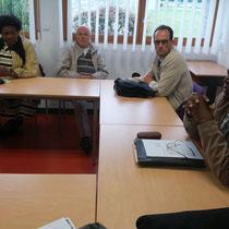 Mme la Dr TAPASU et le Docteur Yvon EBALE NLO nous expliquent les fonctionnements du CHNM