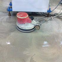 pulido suelo de hormigón