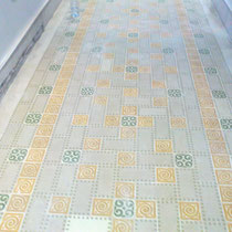 recuperación de suelos de mosaico hidraulico