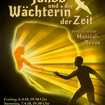 "Plakat-/Flyerdesign 2018 für den Musical-Verein ""Perry Chickers"", Berlin"
