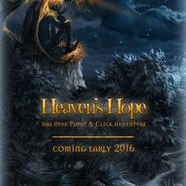 "Flyerdesign für das Point-and-Click-Adventure ""Heaven's Hope""; © Mosaic Mask Studios"