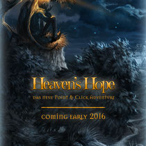 "Flyerdesign für das Point-and-Click-Adventure ""Heaven's Hope""; © Mosaic Mask Studios"