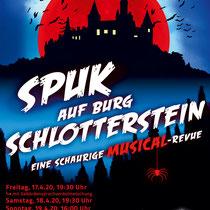 "Plakat-/Flyerdesign 2020 für den Musical-Verein ""Perry Chickers"", Berlin"