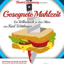 """Plakat-/Flyerdesign 2018 für die Theatergruppe """"TheaterOffenbarung"""", Berlin"""