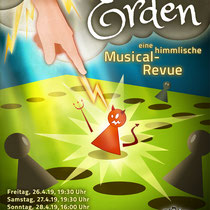"Plakat-/Flyerdesign 2019 für den Musical-Verein ""Perry Chickers"", Berlin"