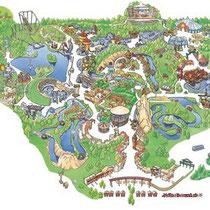 Parc Astérix - Aquarelle à la main