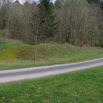 Krater am Straßenrand