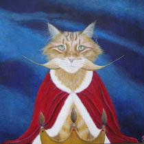 Ouzo. Koninklijk gedrag.....meesterlijk en maf, jij lieve eigenwijze kat....die ik zo graag mag ! 50/50.    Verkocht