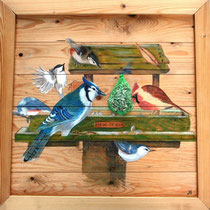 vogelvoederhuisje.   verkocht