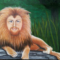 """Freddie de Leeuw. Als je naam de """"de Leeuw"""" is kloppend met je aard, dan is de uitdaging om mens en dier samen te voegen de moeite waard.   € 195. verkocht."""