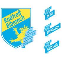 """Radtreff Biberach Logo, der Zusatz """"Aktiv, Sportlich, Gesellig"""" beschreibt die einzelnen Radgruppen"""