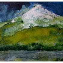 Chile, Osorno, Aquarell, Kreide, 40x60 cm