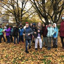 Expedition im Bachwiesenpark, 5. Kl. SH Altstetterstrasse, Nov.  2020