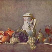 """""""Raisins et grenades"""", J.S Chardin, 1763, huile sur toile, 47 x 57 cm, Musée du Louvre, Paris, Wikimédias Commons"""