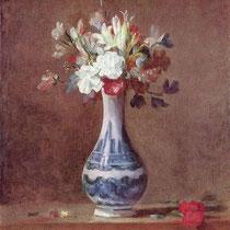 """""""Fleurs dans un vase"""", J.S Chardin, vers 1760 - 1763, huile sur toile, Galerie nationale d'Ecosse, Edimbourg, Wikimédias Commons"""
