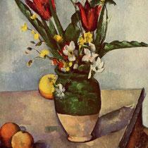 """""""Tulipes et pommes"""", Paul Cézanne, 1890-1894, huile sur toile, 58,5 × 42 cm, Institut d'art de Chicago, Wilimédias Commons"""