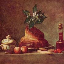 """""""La brioche"""", J.S Chardin, 1763, huile sur toile, 46 x 56 cm, Musée du Louvre, Paris, Wikimédias Commons"""