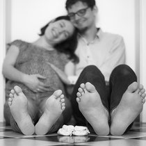 3 Paar Füße