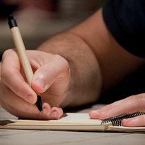 Atelier d'écriture de Larry Tremblay, Zones Théâtrales - Photographe: Marianne Duval