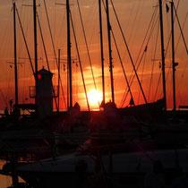 Sonnenuntergang am Hafen von Falsterbo