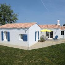 Location Beaulieu à Noirmoutier-en-l'île - Façade Sud, côté jardin