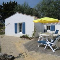 Location Beaulieu à Noirmoutier-en-l'île - Façade Est, côté terrasse