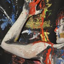 -4-B-Peinture sur corps-Photographie sur toile ou Plexiglas- 50x70-Ed limitée  10 exemplaires