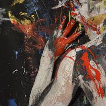 -5-B-Peinture sur corps-Photographie sur toile ou Plexiglas- 50x70-Ed limitée  10 exemplaires