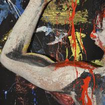 -6-B-Peinture sur corps-Photographie sur toile ou Plexiglas- 50x70-Ed limitée  10 exemplaires