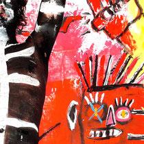 -3-B-Peinture sur corps-Photographie sur toile ou Plexiglas- 50x70-Ed limitée  10 exemplaires