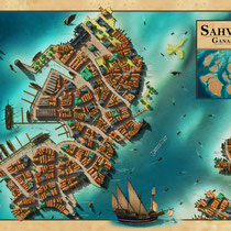 Sahwyn - mainland port of the Pearl City of Ganador
