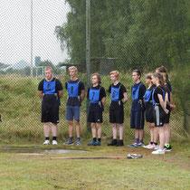 Christophs Gruppe bei der Leistungsspange 2021 beim Kugelstoßen
