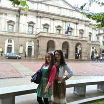 in front of the Scala di Milano