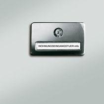 SICHERE KONTROLLE - Optionaler Türspion mit oder ohne Namensschild.