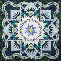 Glacier Star wall quilt  quiltworx pattern