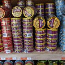 Emiettés de thon en différentes préparations