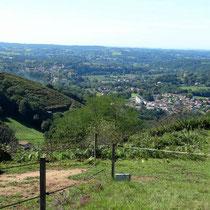 Une vue superbe sur les hauteurs de Cambo