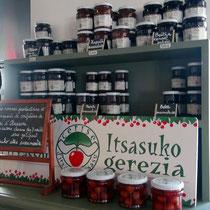 "Confitures de cerises d'Itxassou variétés ""Peloa"" & ""Beltxa"""
