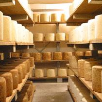 Cave d'affinage de Cantal AOP au lait cru - Crédit photos : www.fromages-aop-auvergne.com