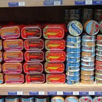 Sardines en différentes préparations