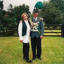 1995 Schützenkönig Manfred Thoms und Frau Beate