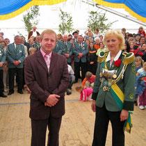 2005 - Schützenkönigin Christiane Gräf und Lebensabschnittsgefährte Jochen Trompa