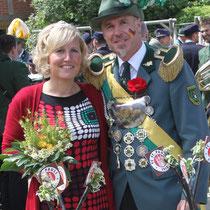 2014 - Schützenkönig Wolfgang Schmidt mit Königin Marie