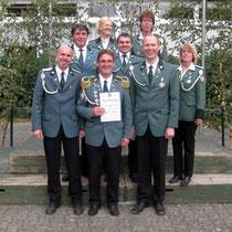 2010 - Schützenkönig Wolfgang Hinrichs mit Abodnung beim Samtgemeindepokalschießen in Dannenberg