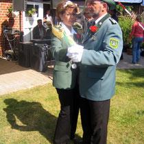 2008 - Schützenkönigin Marion Schlieckau-Warncke mit Ehemann Hans-Hermann