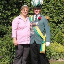 2012 - Schützenkönig Holger Miest mit Gattin Jasmin