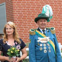 2018 - Schützenkönig Peter Berkensträter mit Frau Ulrike