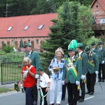 2003 - Schützenkönig Reinhard Deegen und Gattin Margret, Kinderkönigspaar Melanie Sachse und Florian Puhst