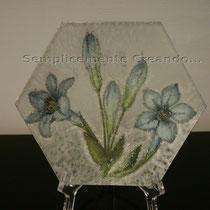 piattino piccolo vetro (cm 13 x 13)
